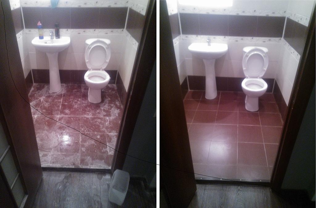 До и после уборки
